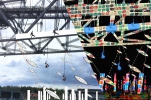 Festival-Inszenierungen, Vertical Dance, Flying Dance