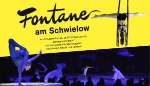 Performance am 7.9.2019 im Schloss Caputh zu 200 Jahre Fontane